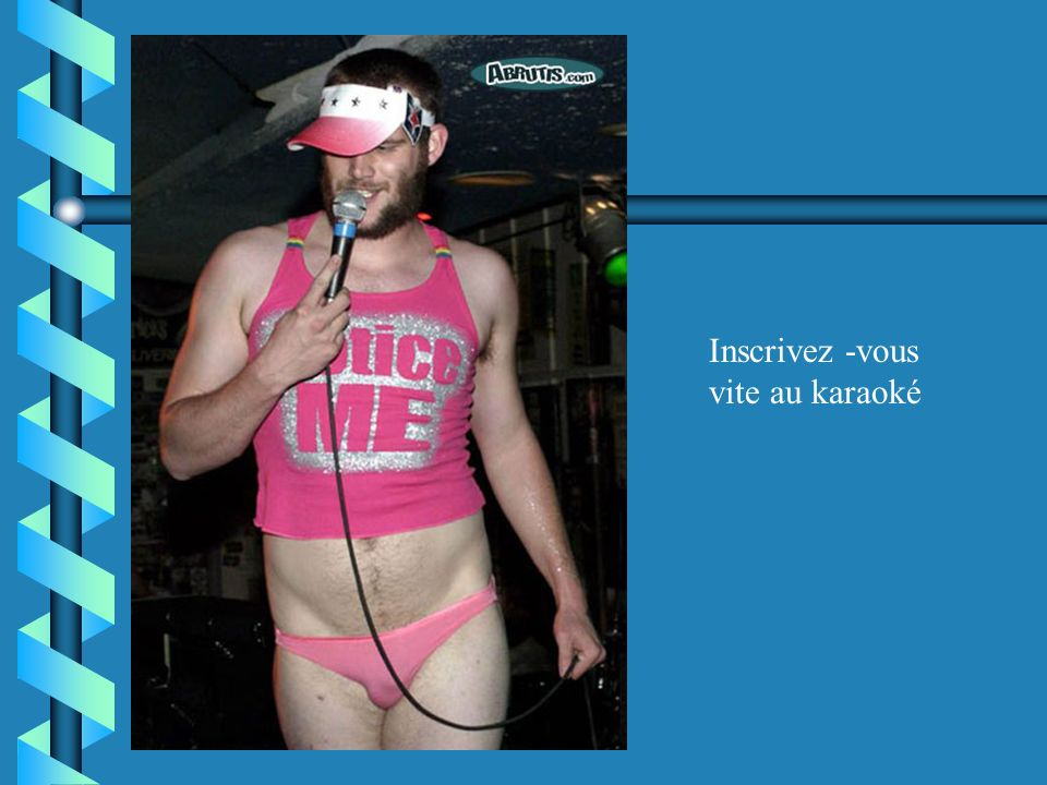 Inscrivez -vous vite au karaoké