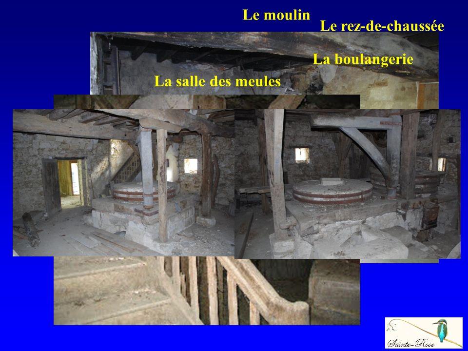 La boulangerie Le rez-de-chaussée La salle des meules Sainte-Rose Le moulin