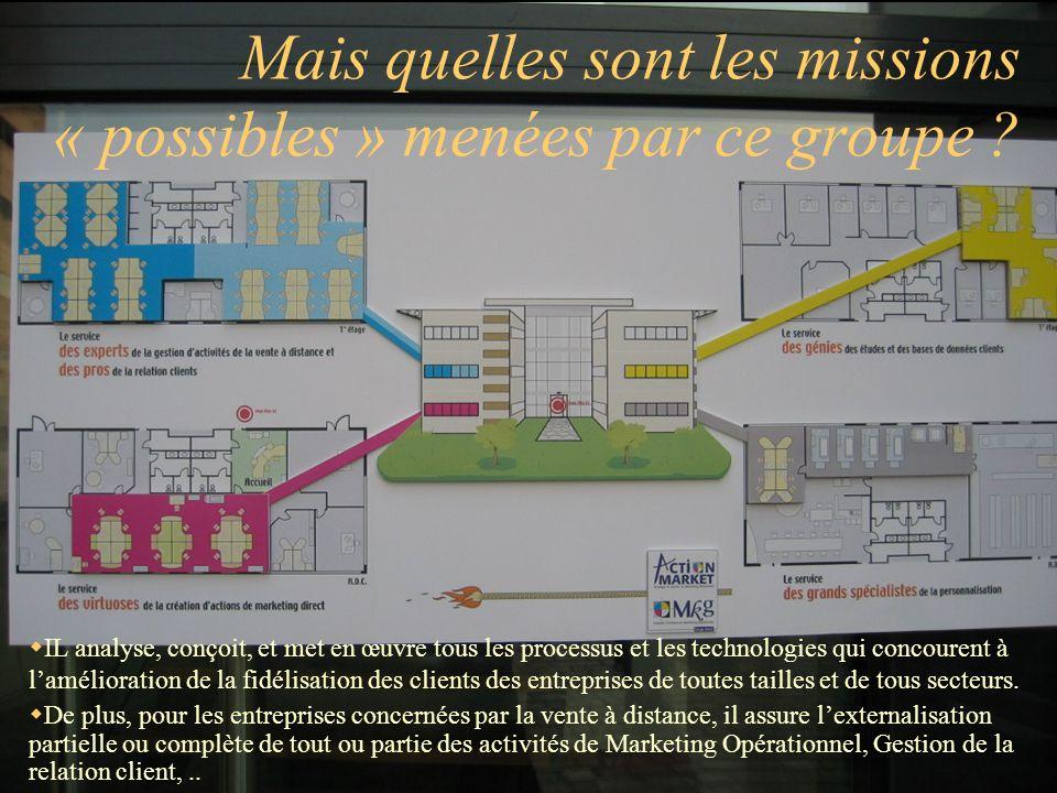 Mais quelles sont les missions « possibles » menées par ce groupe ? IL analyse, conçoit, et met en œuvre tous les processus et les technologies qui co