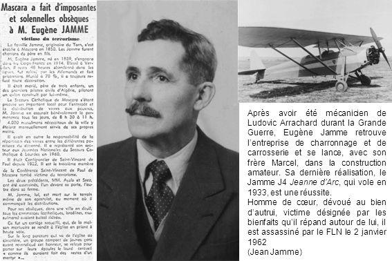 Après avoir été mécanicien de Ludovic Arrachard durant la Grande Guerre, Eugène Jamme retrouve lentreprise de charronnage et de carrosserie et se lanc