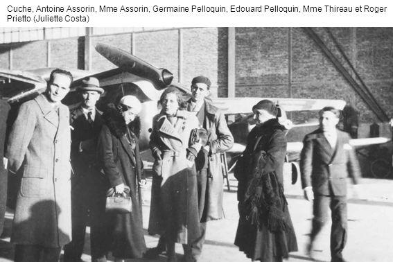 Cuche, Antoine Assorin, Mme Assorin, Germaine Pelloquin, Edouard Pelloquin, Mme Thireau et Roger Prietto (Juliette Costa)