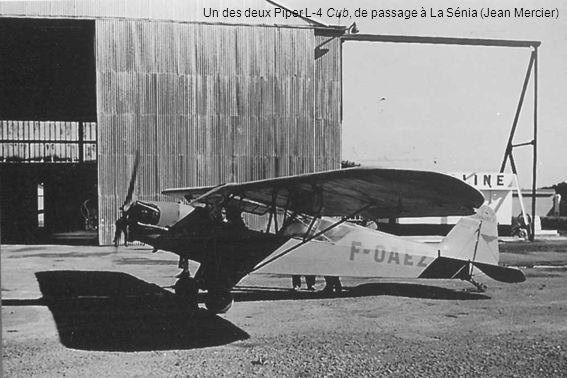 Un des deux Piper L-4 Cub, de passage à La Sénia (Jean Mercier)