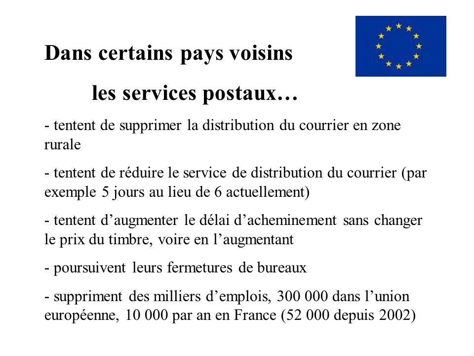 Or, les exemples européens de privatisation des services postaux sont éloquents… et inquiétants !