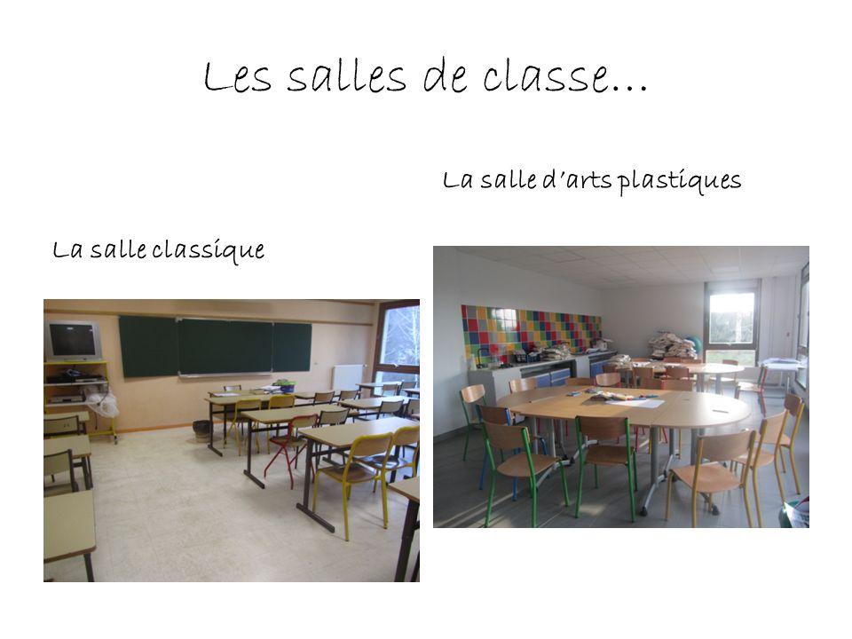 Les salles de classe… La salle classique La salle darts plastiques