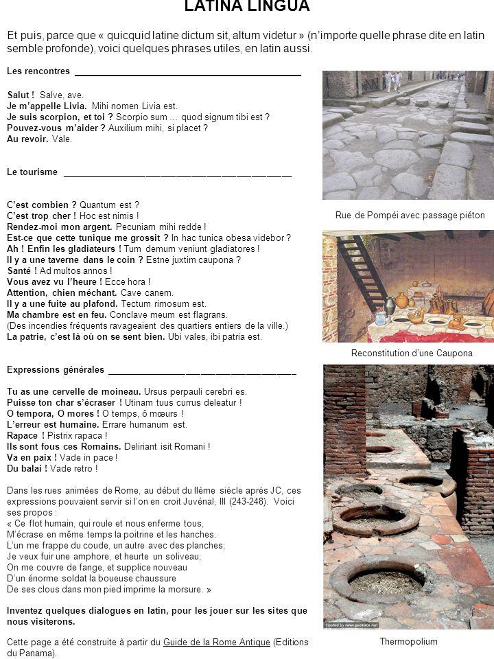 POMPEII Au deuxième siècle après JC, la Pax Romana règne sur lempire.
