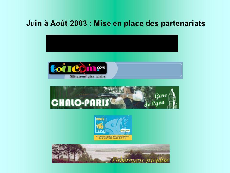 Juin à Août 2003 : Mise en place des partenariats