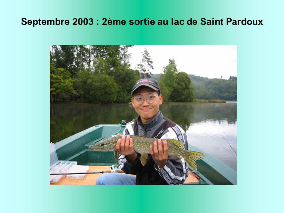 Septembre 2003 : 2ème sortie au lac de Saint Pardoux