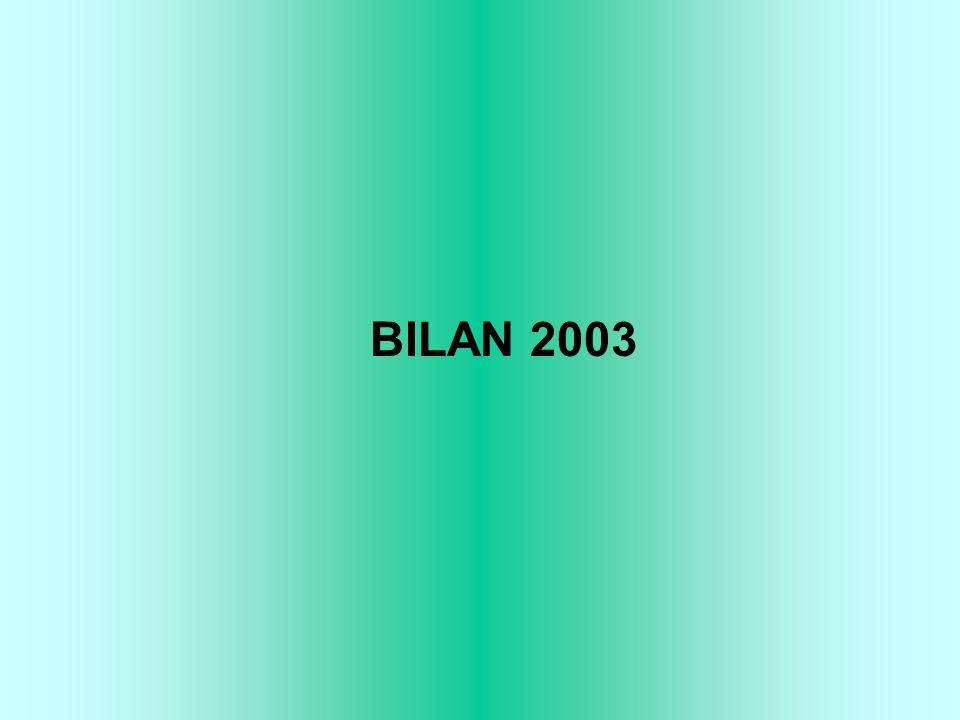 BILAN 2003