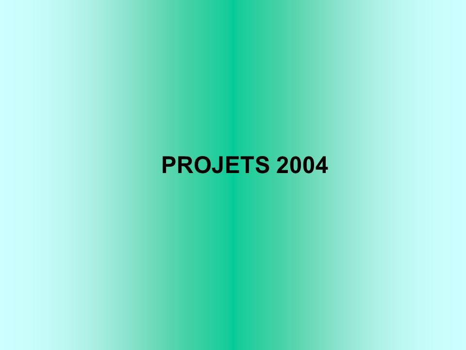 PROJETS 2004