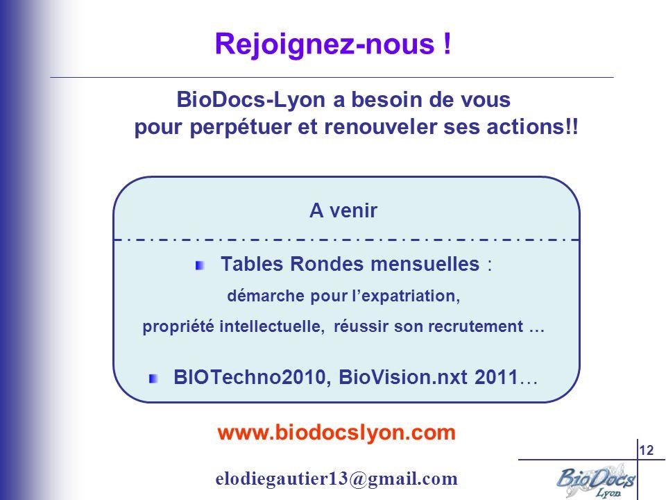 12 www.biodocslyon.com elodiegautier13@gmail.com Rejoignez-nous .