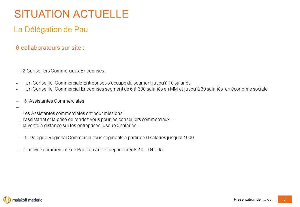 Présentation de..., du...4 PROJET ENVISAGE Rattachement de la Délégation de Pau à la Délégation de Bordeaux en tant que bureau