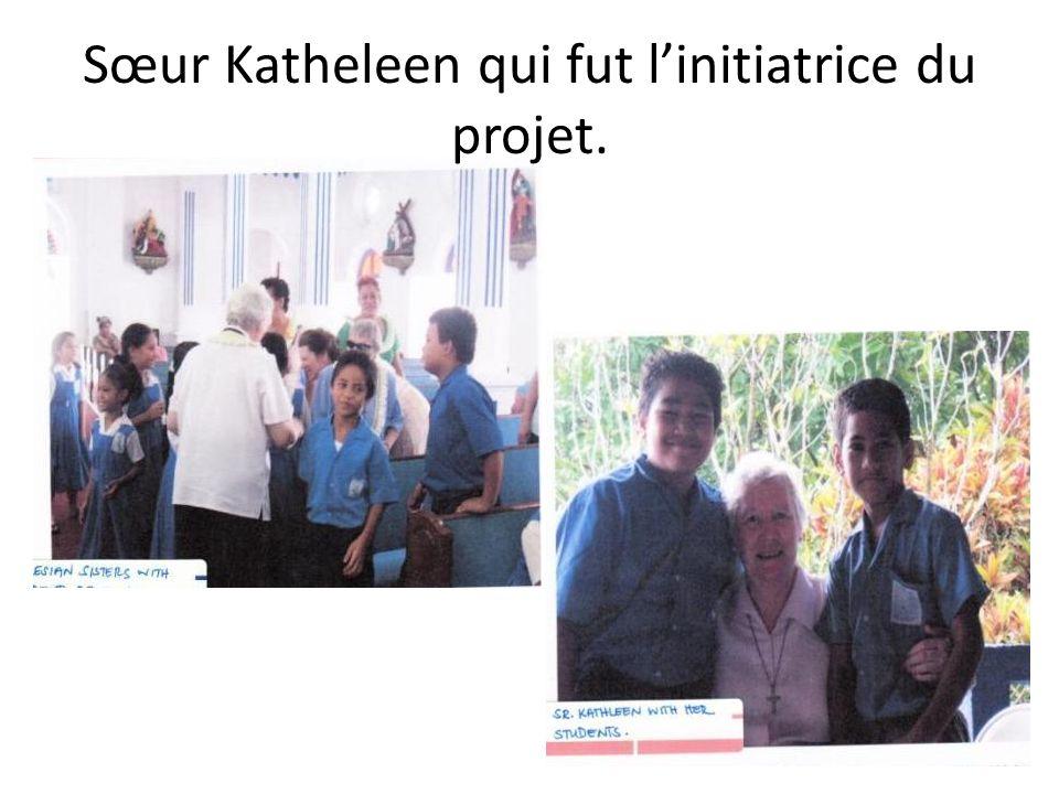 Sœur Katheleen qui fut linitiatrice du projet.
