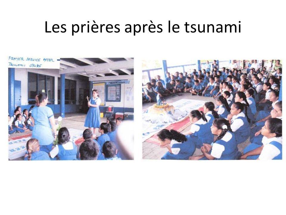 Les prières après le tsunami