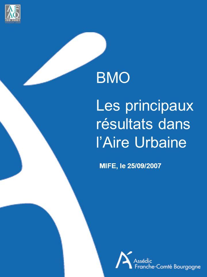 BMO Les principaux résultats dans lAire Urbaine MIFE, le 25/09/2007