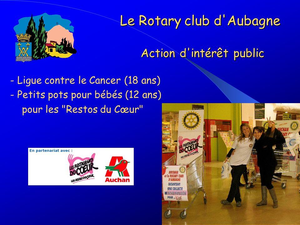 - Ligue contre le Cancer (18 ans) - Petits pots pour bébés (12 ans) pour les