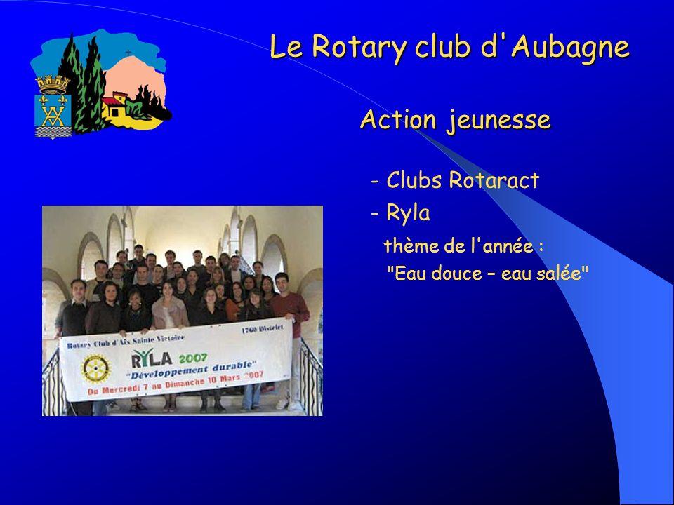 - Clubs Rotaract - Ryla thème de l'année :