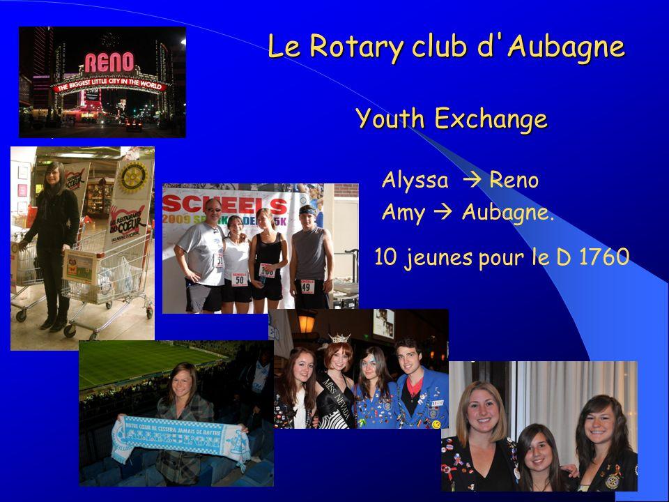 Alyssa Reno Amy Aubagne. 10 jeunes pour le D 1760 Le Rotary club d'Aubagne Youth Exchange