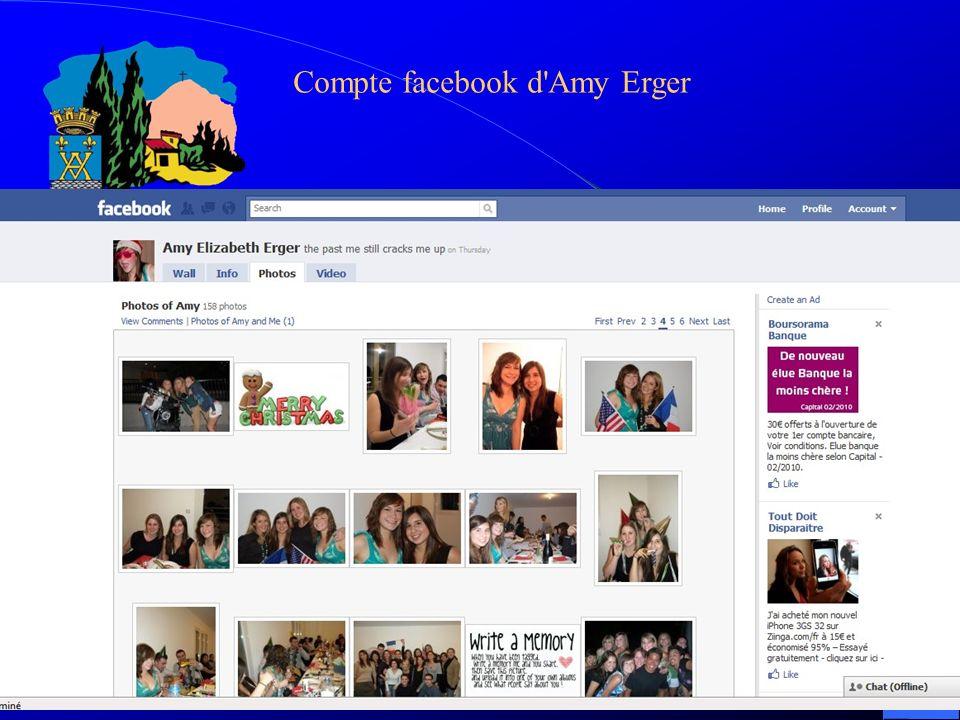 Compte facebook d'Amy Erger