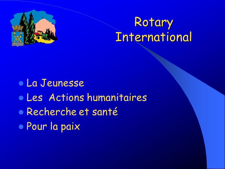 Rotary International La Jeunesse Les Actions humanitaires Recherche et santé Pour la paix
