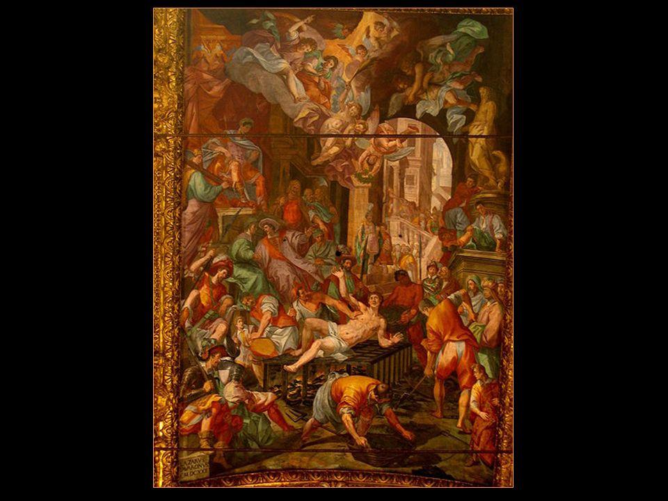 Le martyr de Saint-Laurent dans la voûte du presbytère