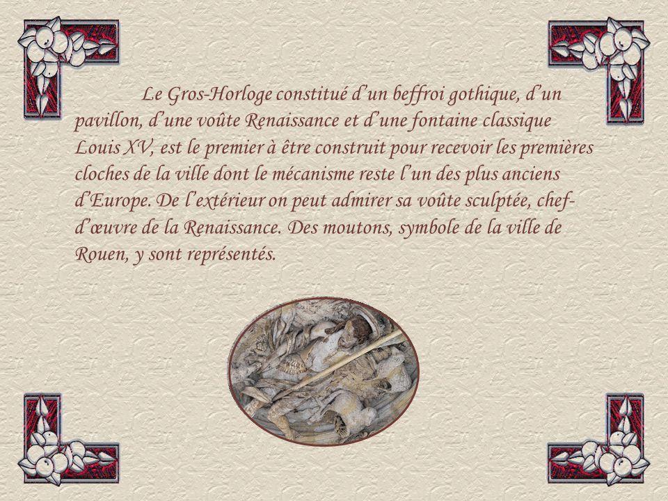 Parlement de Normandie Cest lune des plus importantes et plus belles réalisations de larchitecture civile à la fin du Moyen âge en cours dun vaste programme de restauration.