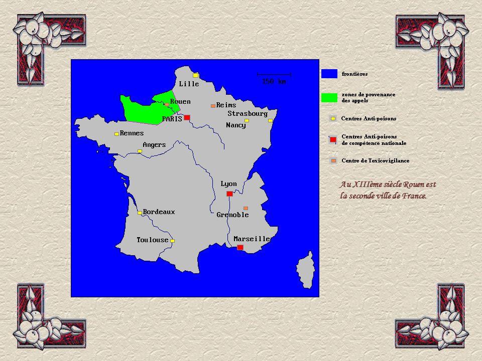 Au XIIIème siècle Rouen est la seconde ville de France.