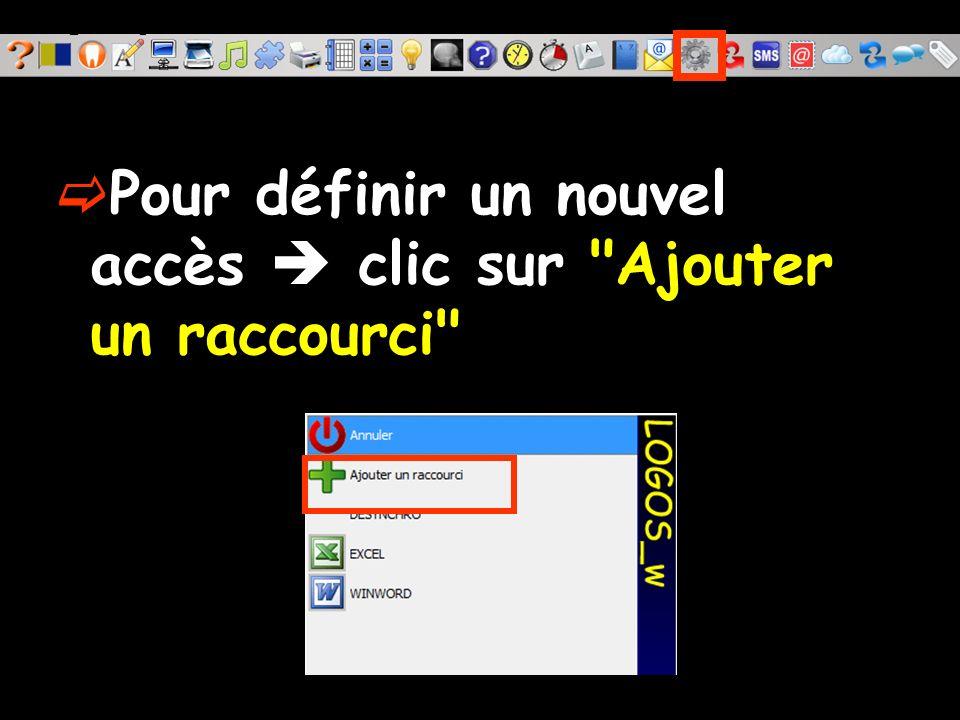 La fenêtre qui s ouvre permet de définir l accès à un programme externe à LOGOS_w, comme pour la création d un nouveau raccourci sur le bureau de Windows