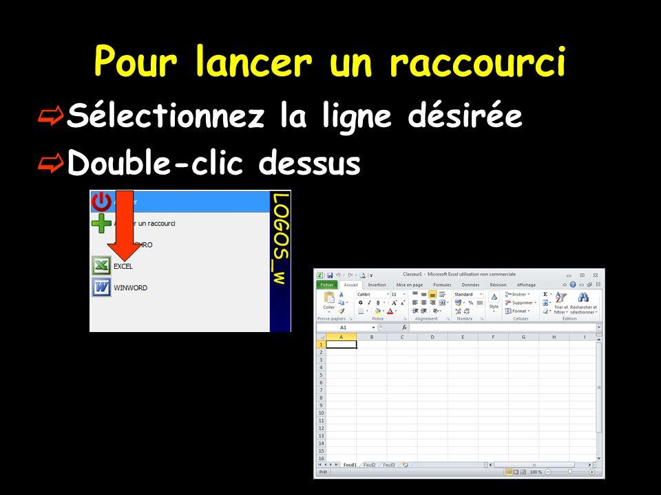 Pour insérer un icône dans la barre dicônes LOGOS_w