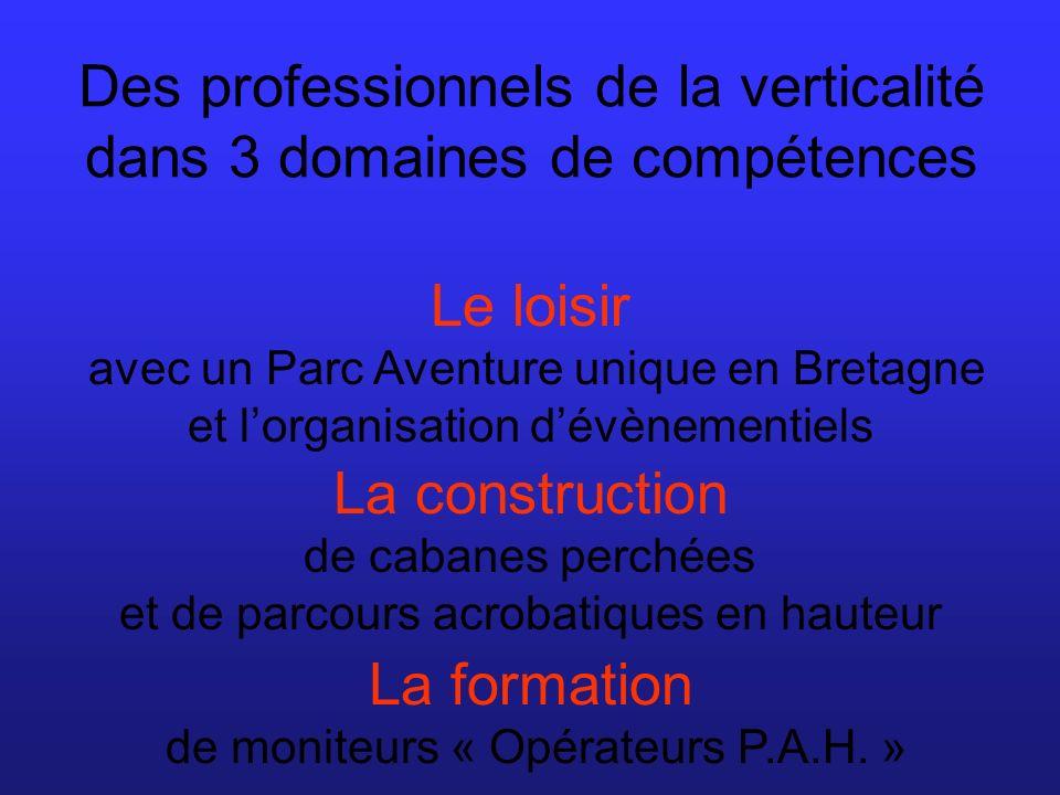 Escapades Verticales est une équipe de professionnels passionnés qui propose un parcours aventure unique en Bretagne.