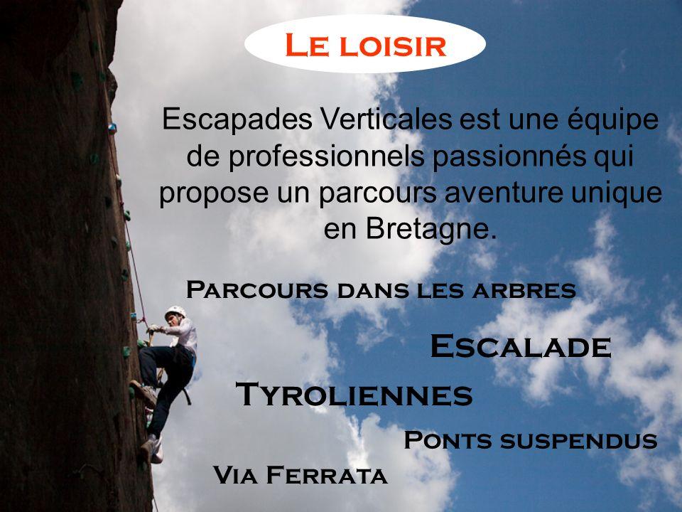Escapades Verticales est une équipe de professionnels passionnés qui propose un parcours aventure unique en Bretagne. Escalade Tyroliennes Via Ferrata
