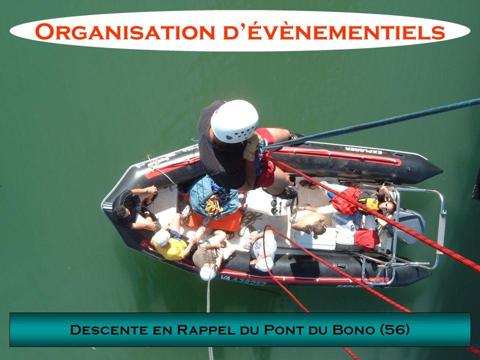 Descente en Rappel du Pont du Bono (56) Organisation dévènementiels