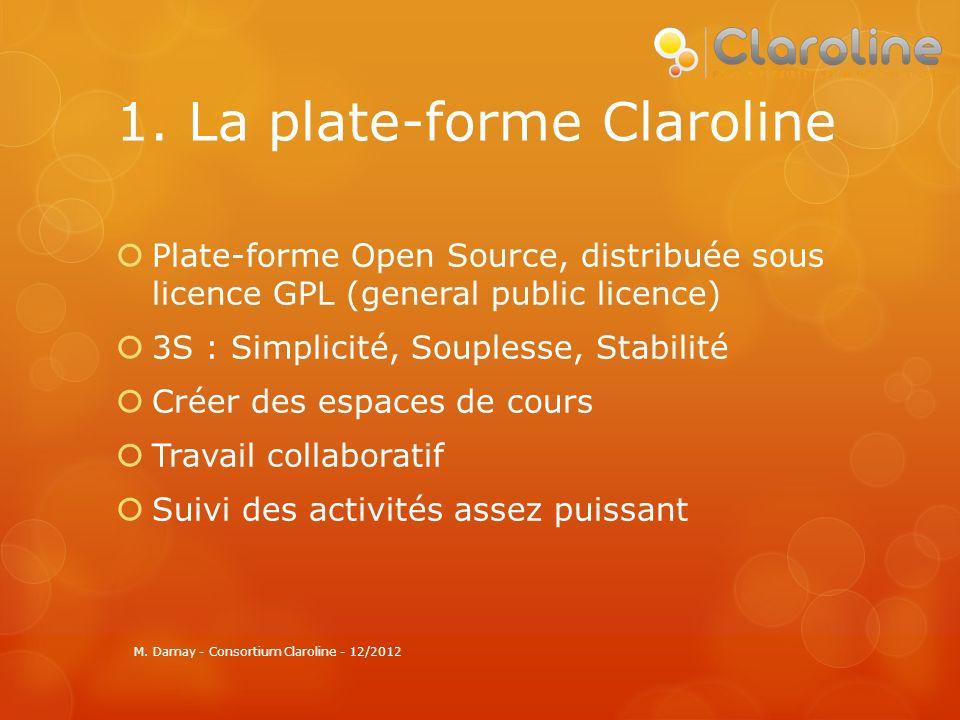 2. Un modèle pédagogique M. Damay - Consortium Claroline - 12/2012