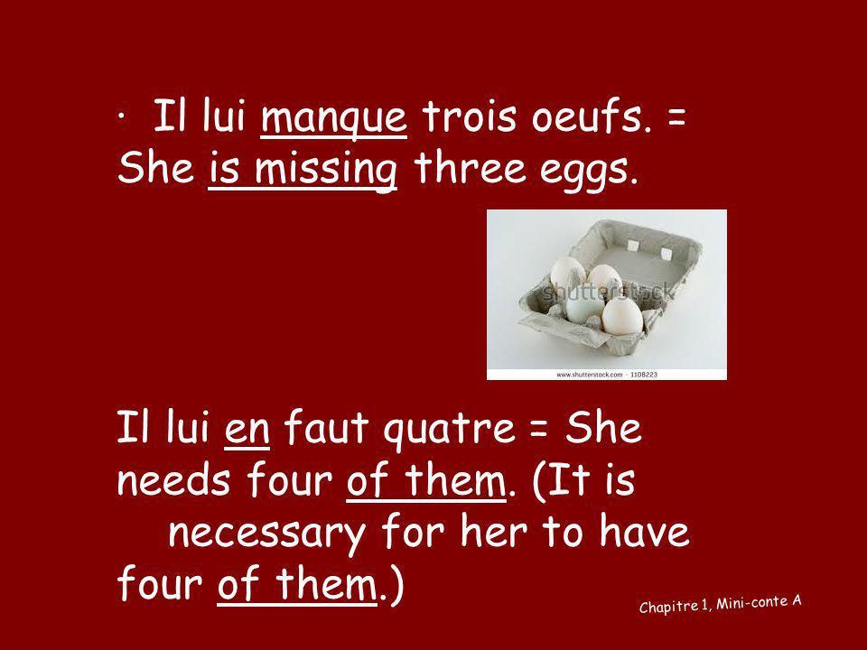 Ça / Cela dure longtemps = That lasts a long time Chapitre 1, Mini-conte E