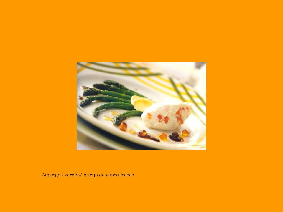 Aspargos verdes/ queijo de cabra fresco