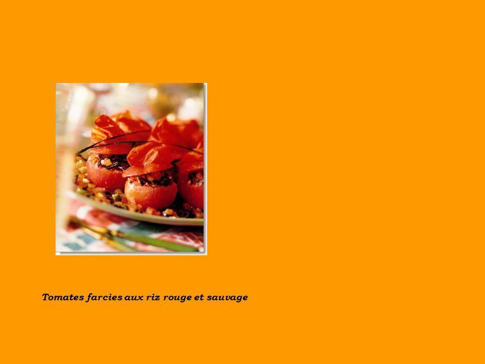 Tomates farcies aux riz rouge et sauvage
