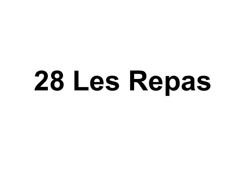28 Les Repas