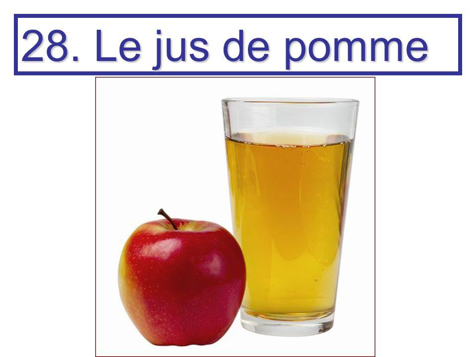 28. Le jus de pomme