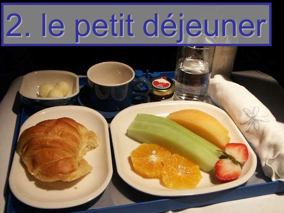 2. le petit déjeuner