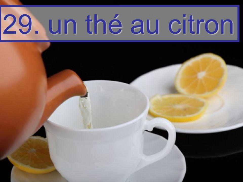 29. un thé au citron