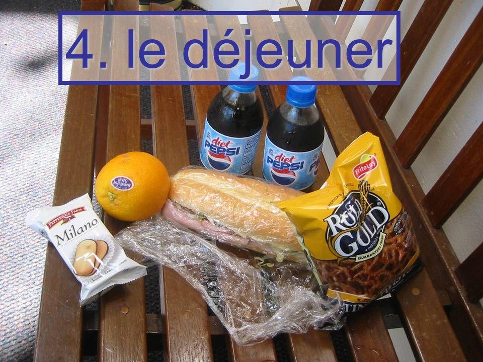 4. le déjeuner