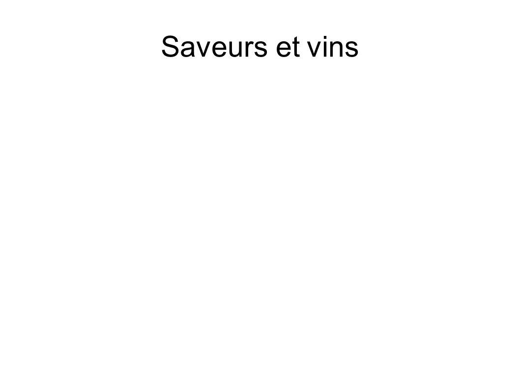 Saveurs et vins
