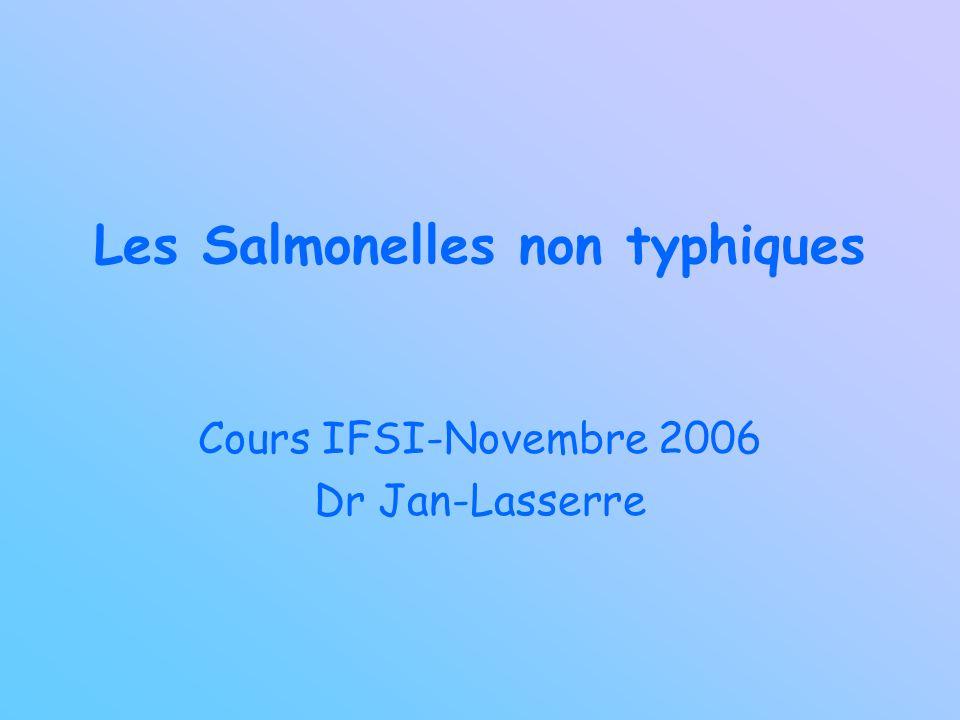 Les Salmonelles non typhiques Cours IFSI-Novembre 2006 Dr Jan-Lasserre