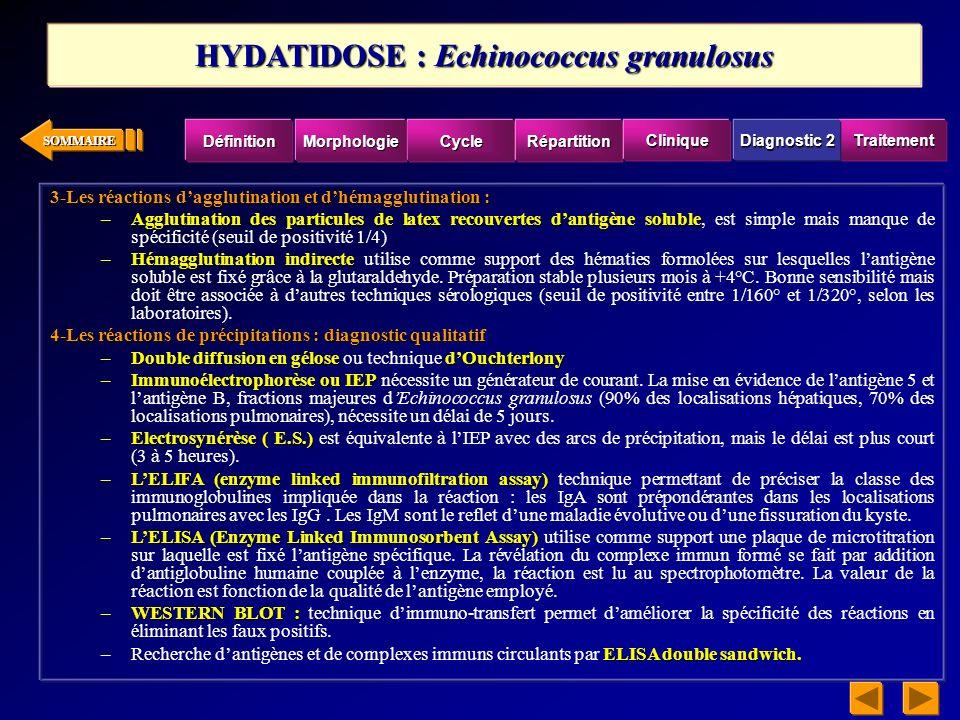 SOMMAIRE Le diagnostic de la distomatose à Fasciola hepatica nest indiscutablement établi que par la découverte des œufs du parasite dans les selles ou dans le tubage duodénal.
