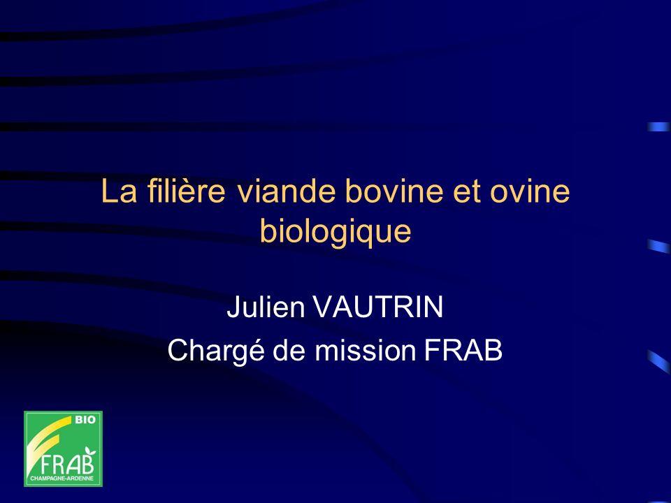 La filière viande bovine et ovine biologique Julien VAUTRIN Chargé de mission FRAB