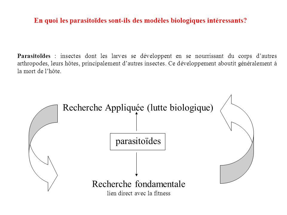 Les principaux chiffres: Espèces recensées: - 50 000 hyménoptères - 15 000 diptères - 3000 autres Estimations : 800 000 espèces (Cf tableau de recensement des espèces de parasitoïdes, daprès Godfray 1994) Taxonomie des parasitoïdes