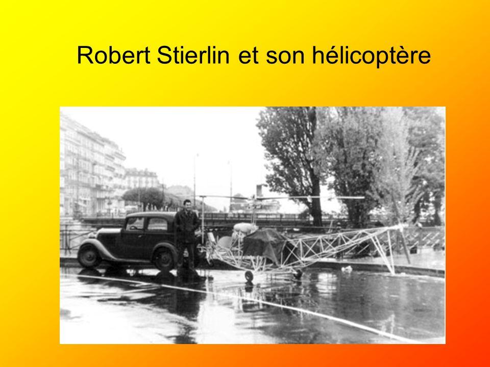 Robert Stierlin et son hélicoptère
