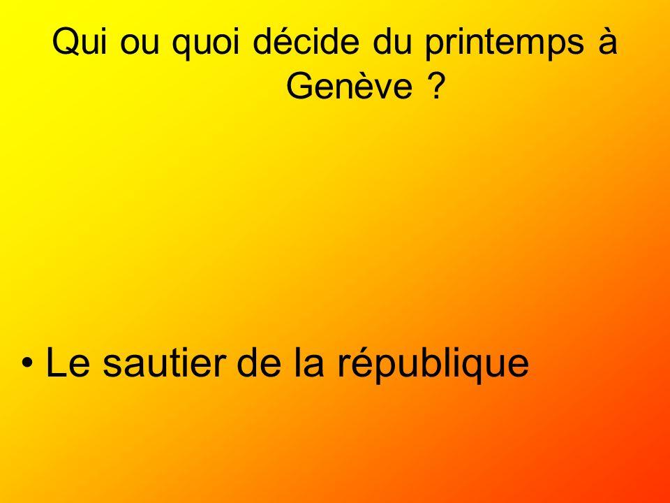 Qui ou quoi décide du printemps à Genève ? Le sautier de la république
