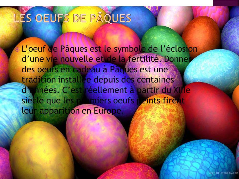 Loeuf de Pâques est le symbole de léclosion dune vie nouvelle et de la fertilité.