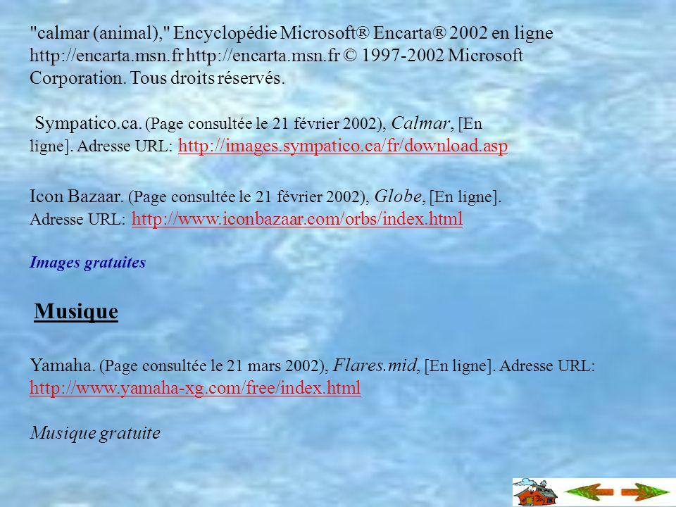 David Luquet. (Page consultée le 21 février 2002)..Méditerranée sous-marine, [En ligne]. Adresse URL: http://www.davidluquet.com/html/biologie/mollusq