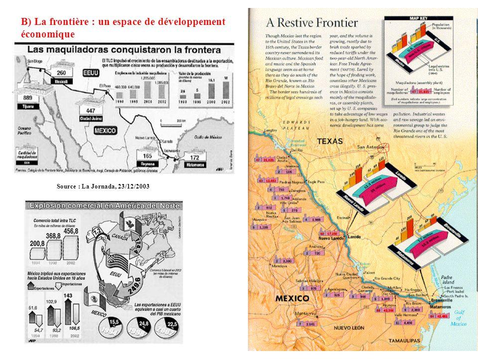 III. La frontière, espace déchanges A) Quand les langues se jouent des frontières On peut noter limportance des noms de lieu dorigine espagnole en Cal